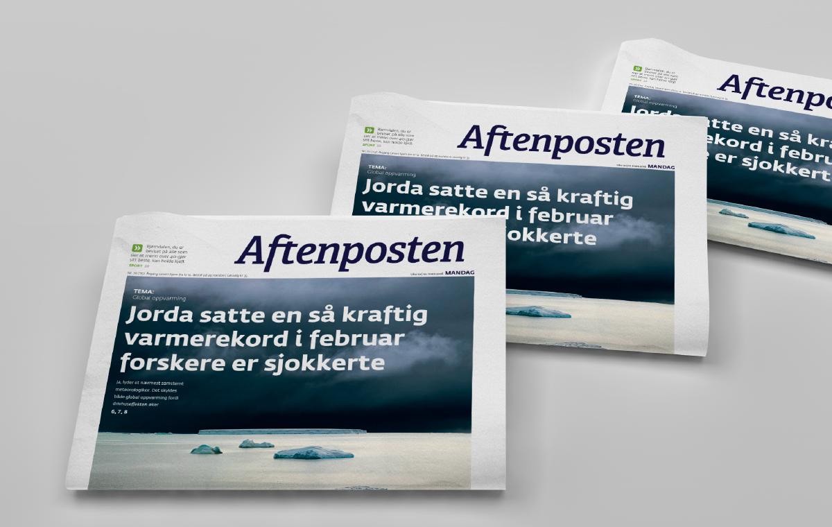 Aftenposten redesign forside